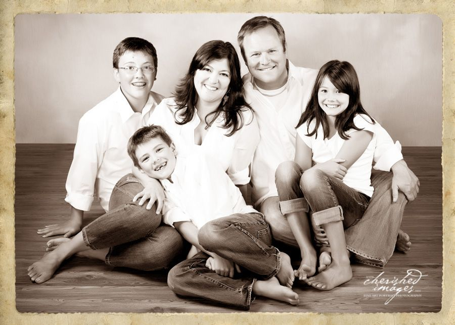 family portrait studio in sepia