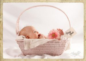 Baby in basket from God