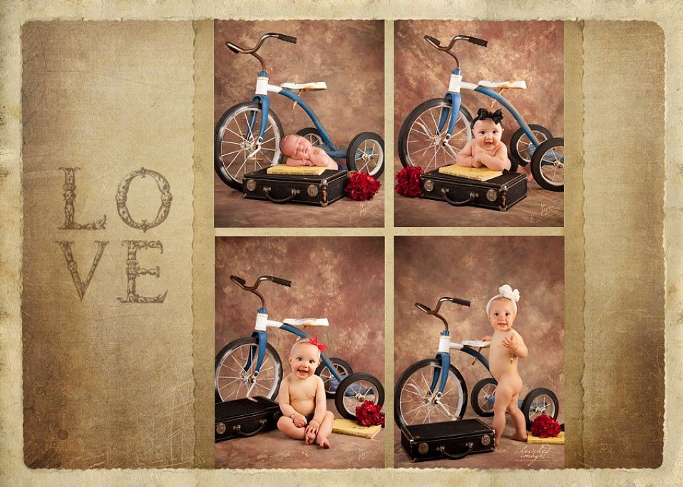 baby first year with tricycle