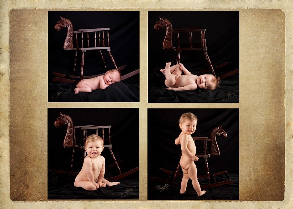 baby first year with rocking horse