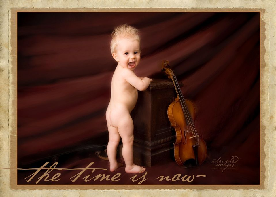 baby 1 year with violin