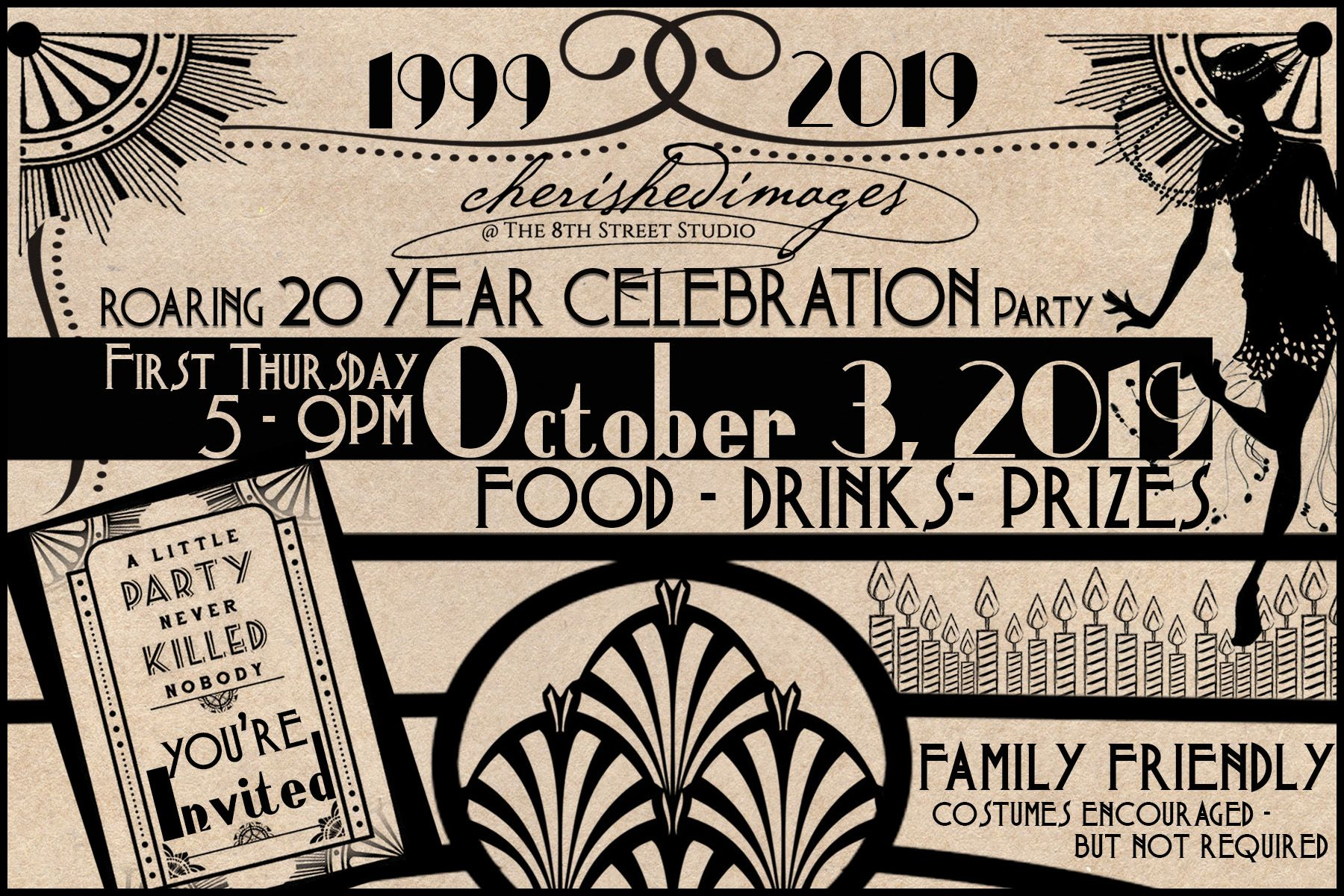 Cherished Images Celebrates 20th Anniversary with a Roaring 20's PARTY!!
