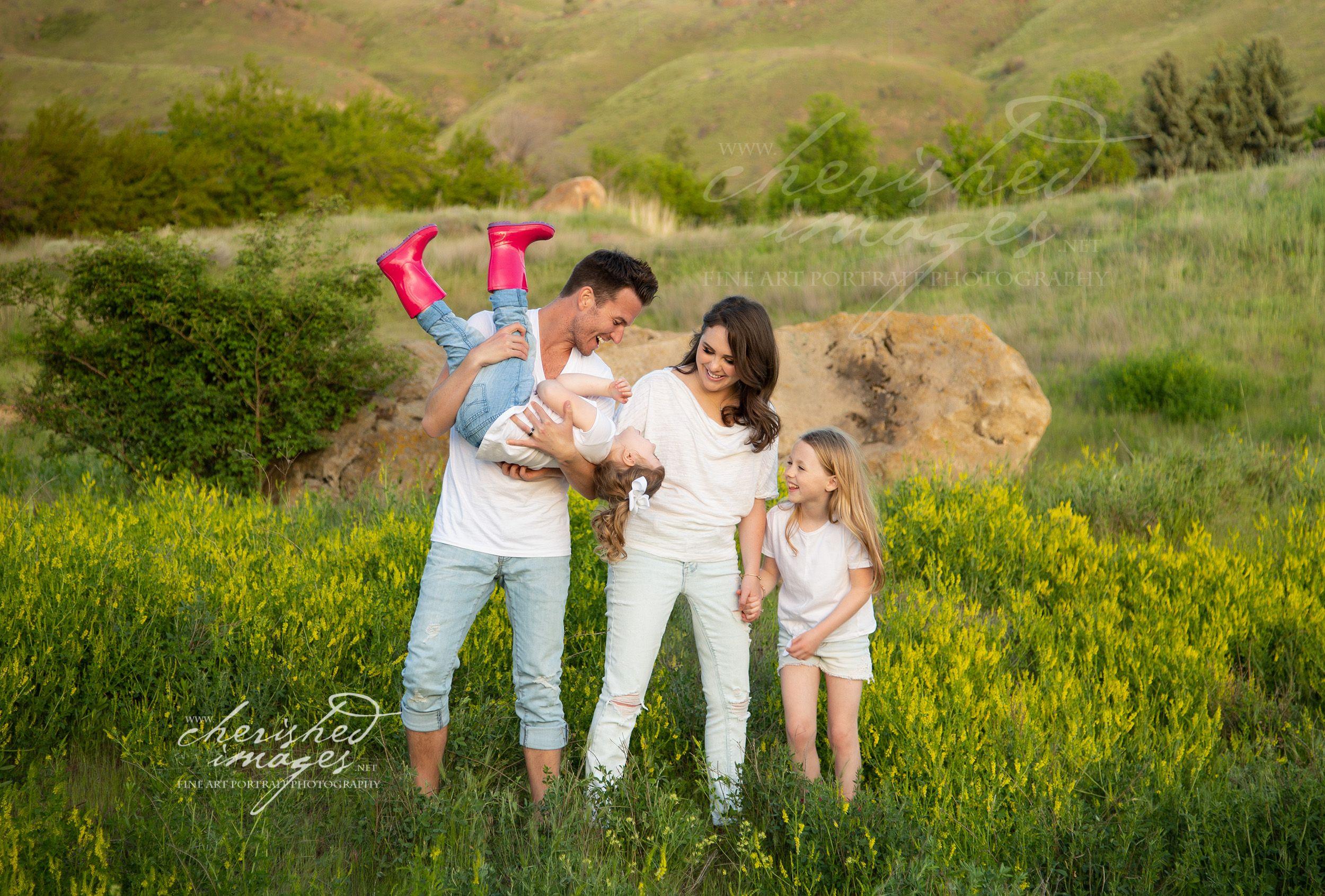 Fun Summer Family Portrait in Boise