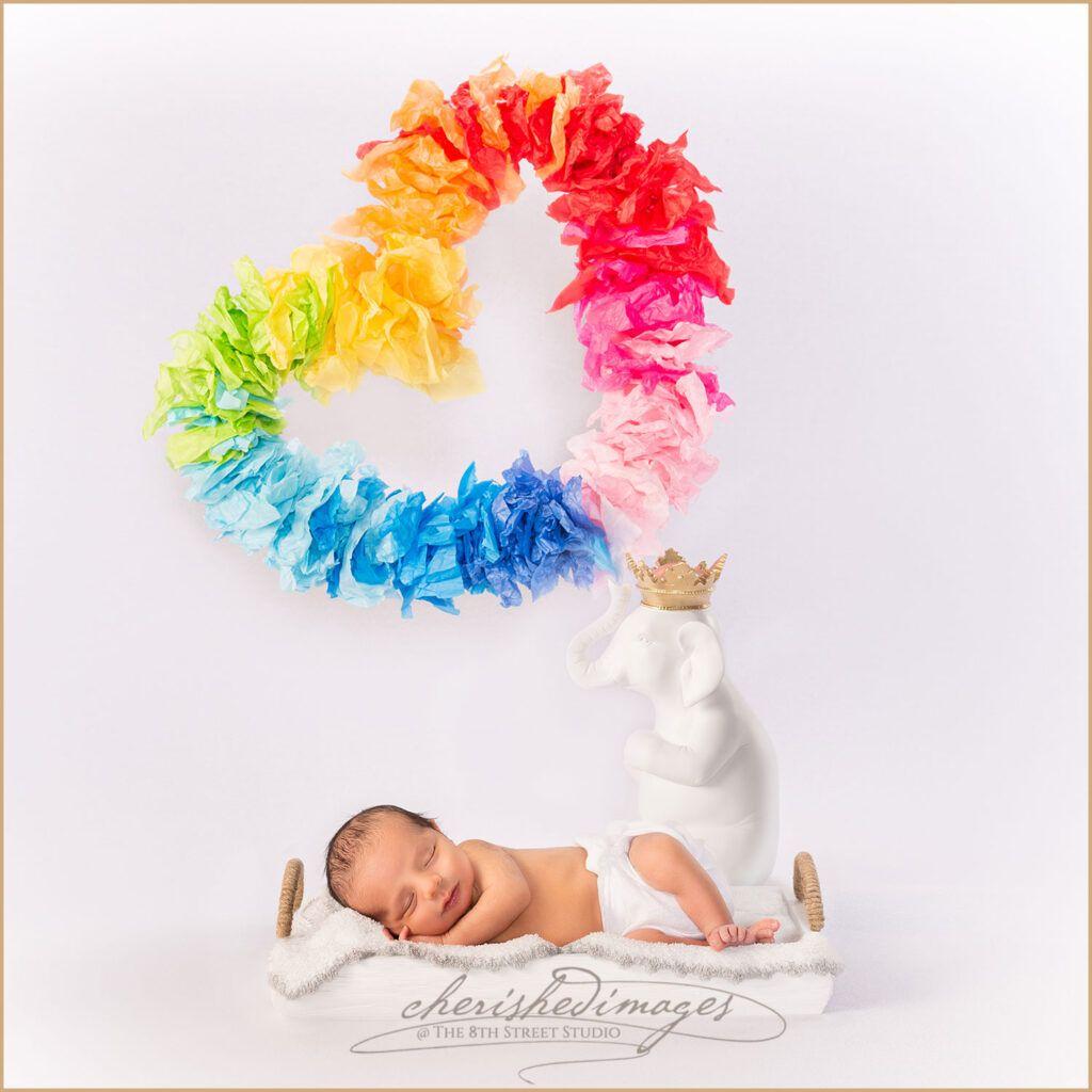 Rainbow Baby Newborn Portrait