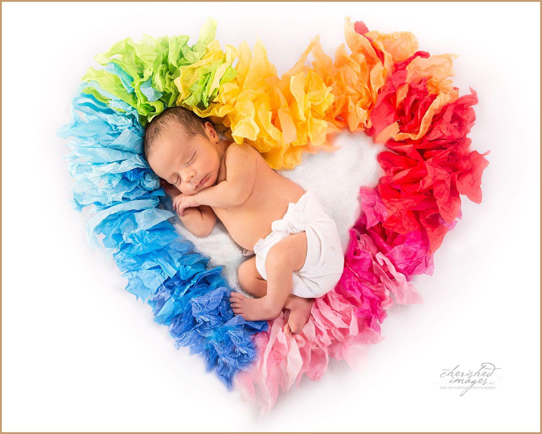 Rainbow Baby In Heart